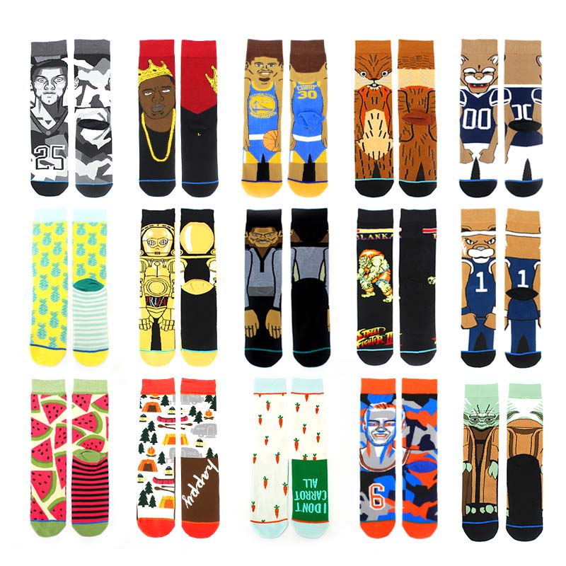 HEPOSCKONE Star Wars Movie Stockings HOT Spring Autumn Winter Style New Combed Cotton Creative Funny Socks Men Calcetines Hombre