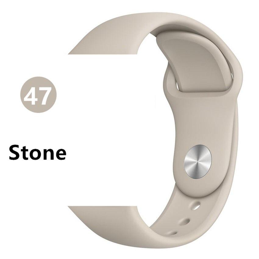 Ремешок для apple watch band 44 мм/40 мм iwatch band 5 4 42 мм 38 мм correa pulseira watch band для apple watch 5 4 3 браслет 44 мм - Цвет ремешка: Stone