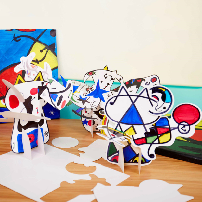 Craft Toys For Children Crafts Kids DIY Painting Graffiti Blank Cartoon Character Education Toys Montessori Teaching Aids Toy