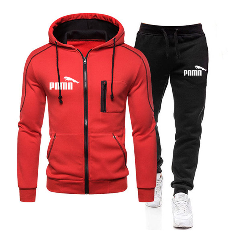 New Brand Tracksuit Men's hoodie Sets Casual Sports Suit Spring Autumn Men Sportswear Zipper Hoodie + Pants Training Suit