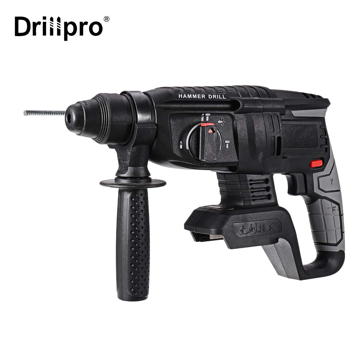 Brushless Electric Rotary Hammer Rechargeable Multifunction Hammer Impact Power Drill Tool for 198Vf Makita Battery