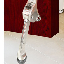Door Fittings Zinc Alloy Feet Kickdown Stopper Satin Chrome Lever Holder Rubber Stop Hardware door buffer