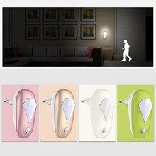 LED Night Light To Socket EU Plug Sensor Switch Socket Nightlight Lamp For Children Kids Living