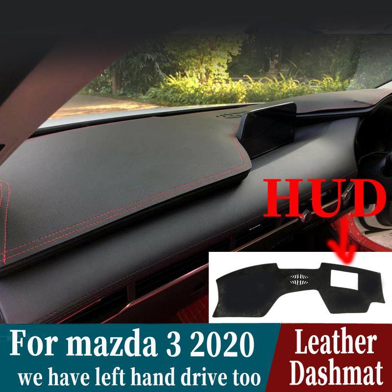 For Mazda 3 Mazda3 2019 2020 Leather Dashmat Dashboard Cover Pad Dash Mat Carpet Car Styling Accessories