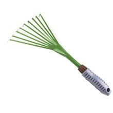 Травяной грабли портативный девять зубов утолщенный внутренний двор практичный Железный Зеленый свободный грунт прочные инструменты садовая лопата расширен