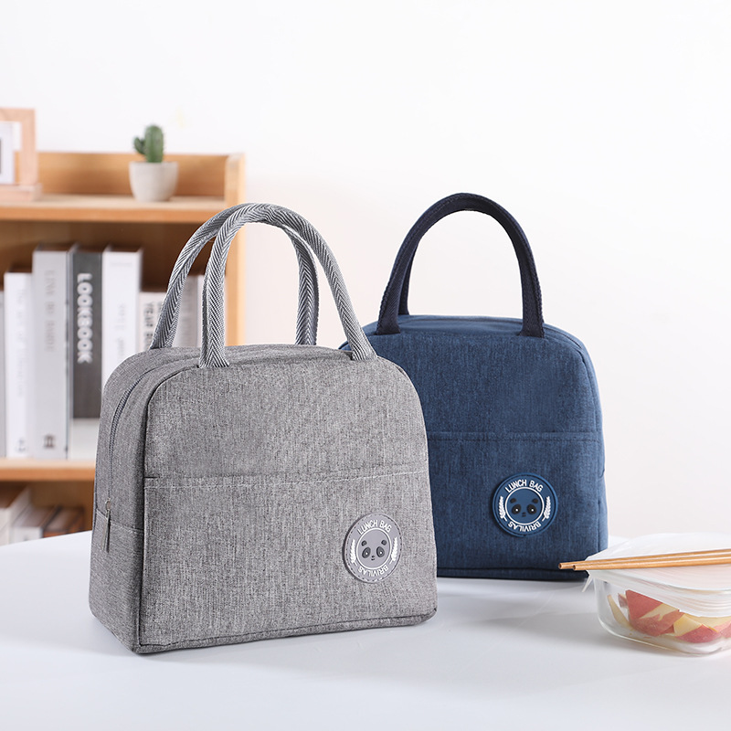 1PCs Fresh Cooler Bags Waterproof Nylon Portable Zipper Thermal Oxford Lunch Bags For Women Convenient Lunch Box Tote Food Bags 1