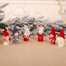 Lovely Christmas Santa Ornaments For Tree Wooden Girl Pendants Home Decor Hanging Doll Gift Kids New Year Decorations