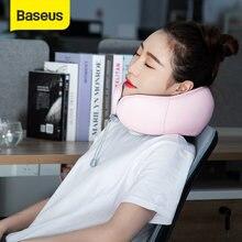 Baseus – oreiller de voyage Cervical en mousse à mémoire de forme, oreiller de voyage Cervical pour avion, bureau, sieste, voiture, tête de vol en U, Support de menton