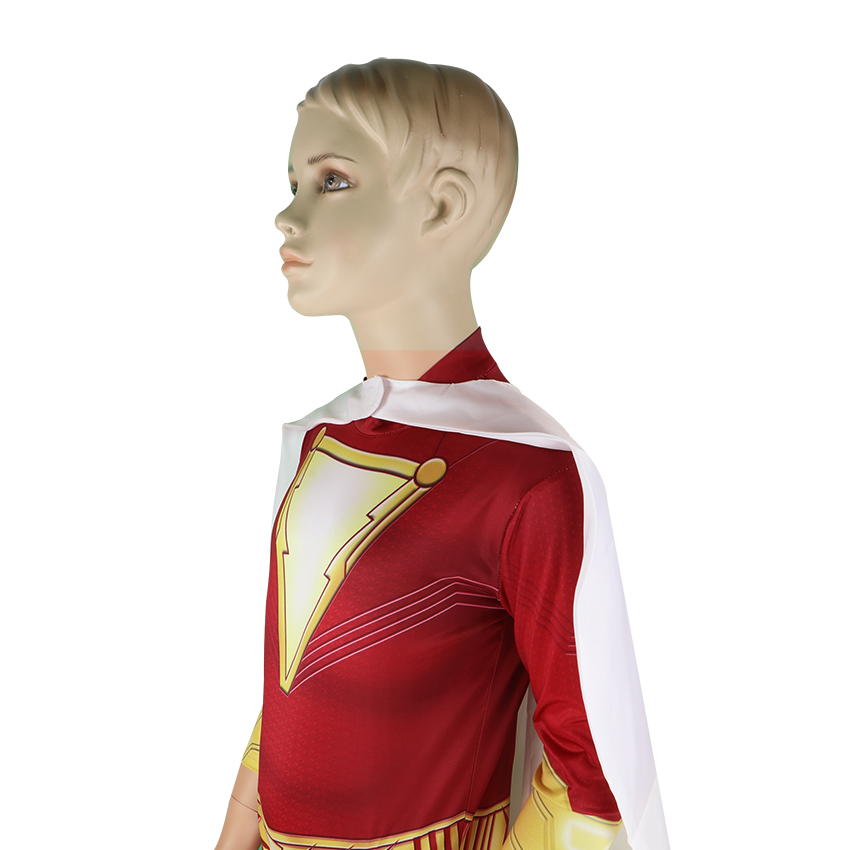 Boys Clothes Set Shazam Costume Kids Jumpsuit With Cloak Superhero Shazam Cosplay Billy Batson Halloween Costumes For Kids Suit in Clothing Sets from Mother Kids