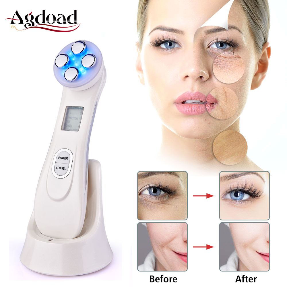 RF Radio Frequency Facial Machine EMS Mesotherapy Electroporation LED Photon Face Lifting Tighten Beauty Machine Face Massager