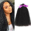 Бразильские волосы курчавые человеческие волосы пряди 1/3/4 шт. 30 дюймов, африканские Курчавые Кудрявые Волосы Remy плетение натуральные густы...