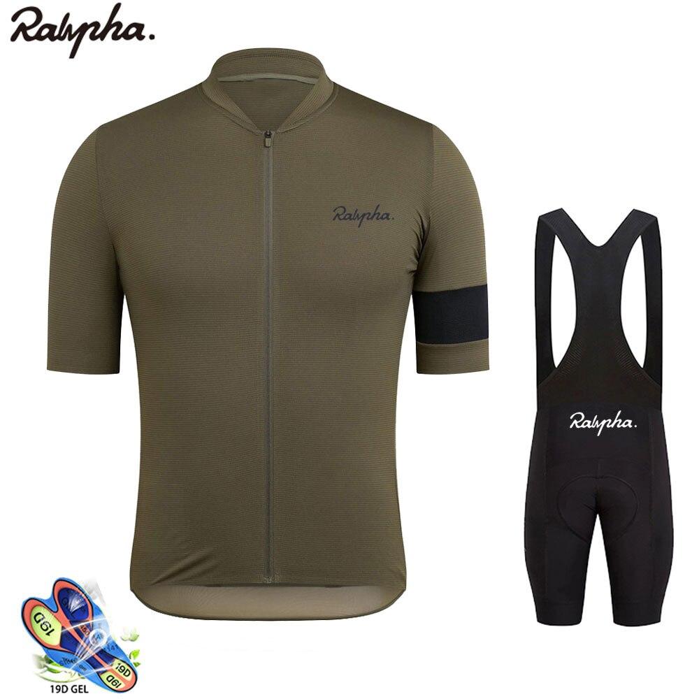 Raphaful conjunto camisa de bicicleta verão dos homens mangas curtas mallot ciclismo hombre verano 2020 moda ao ar livre mtb estrada ciclismo roupas