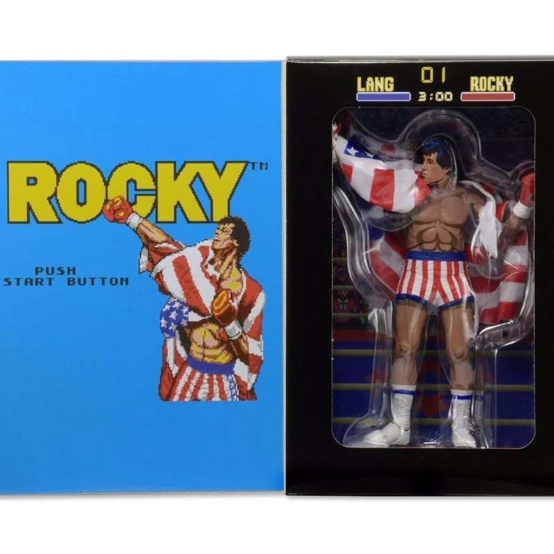 18cm Classic Sylvester NECA Rocky 7 Inches Anime Version Wearable American Action Figure Doll Kids Collections Model