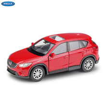 WELLY 1:36  Mazda CX-5 SUV simulation alloy car model machine Simulation Collection toy pull-back vehicle цена и фото
