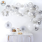 43Pcs silver And Whi...