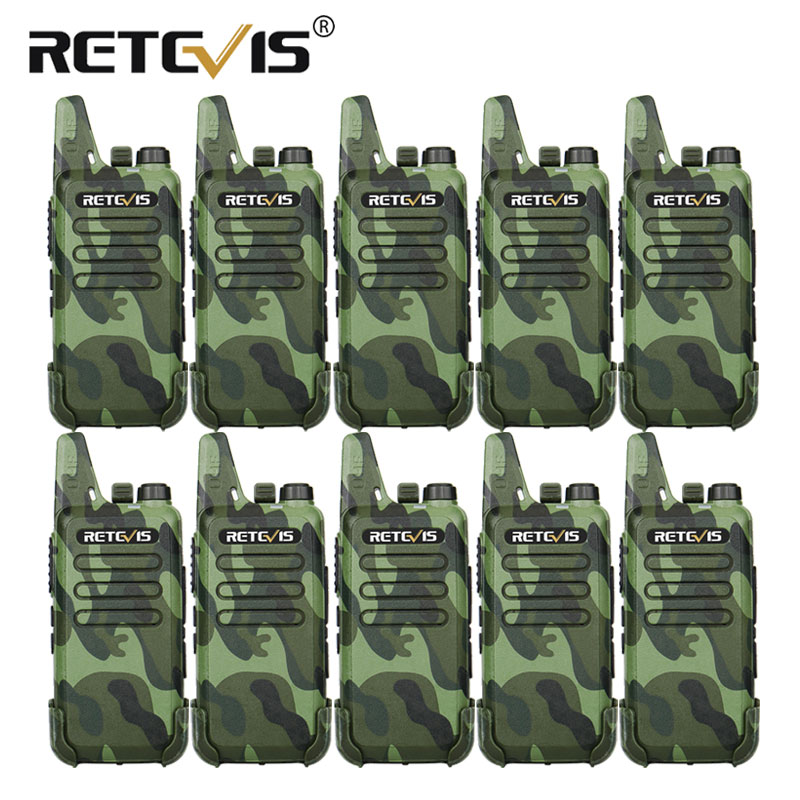 10pcs RETEVIS RT22 Professional Handy Walkie Talkie Mini FRS VOX USB Charge UHF Two Way Radio Comunicador Hotel/Restaurant