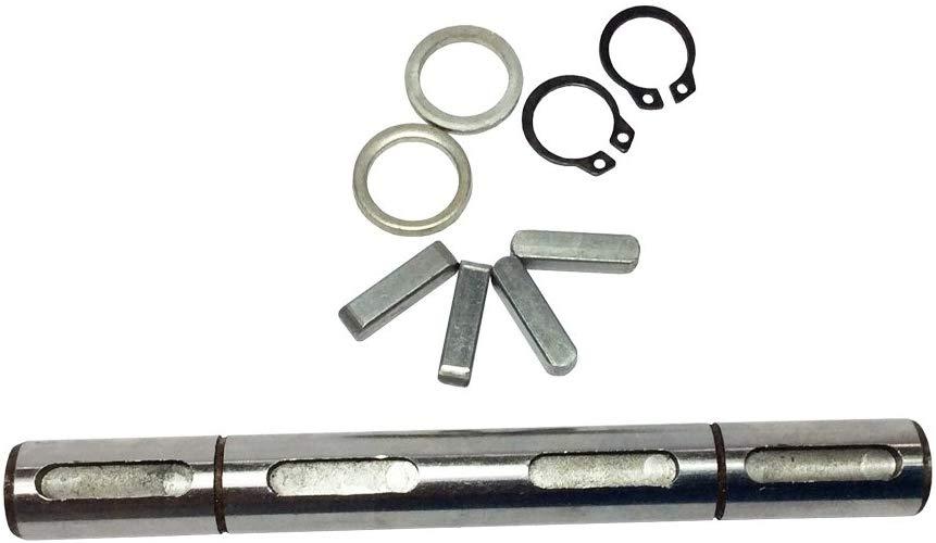 Doppel Ausgang Welle Fit für Wurm Getriebe NMRV030 Doppel Ausgang Welle + Dichtungen + S Ring + Ecke Pin Durchmesser 14mm für 030 Getriebe