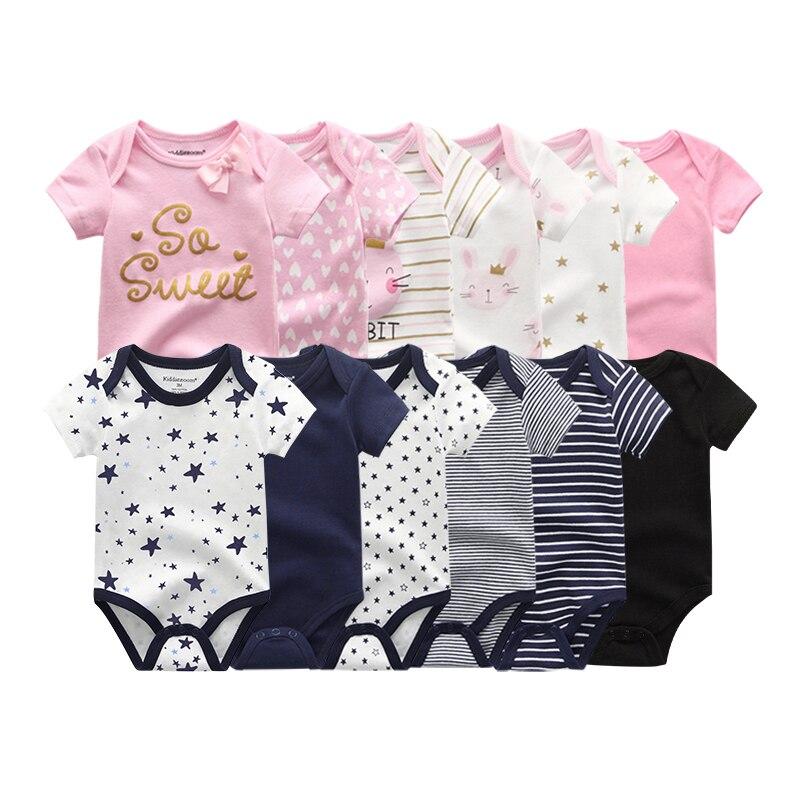 2021 для маленьких девочек с цветочным принтом; 6 шт. хлопковая футболка с короткими рукавами для новорожденных; Одежда для маленьких девочек; ...