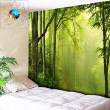 цена на Chic Foggy Forest Tapestry Wall Hanging Boho Decor Hippie Mandala Psychedelic Wall Tapestry tapiz pared tela grande 200 * 300cm