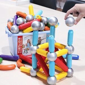 Большой размер, магнитные стержни, игрушки, Магнитный конструктор, магнитные строительные блоки, сделай сам, конструктор, игрушки для детей,...