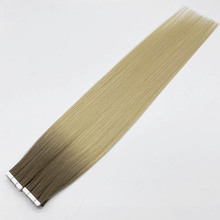 16'' 18'' 20'' Ombre Color Tape In Human Hair Silky Straight 100% Natural Real Balayage Hair