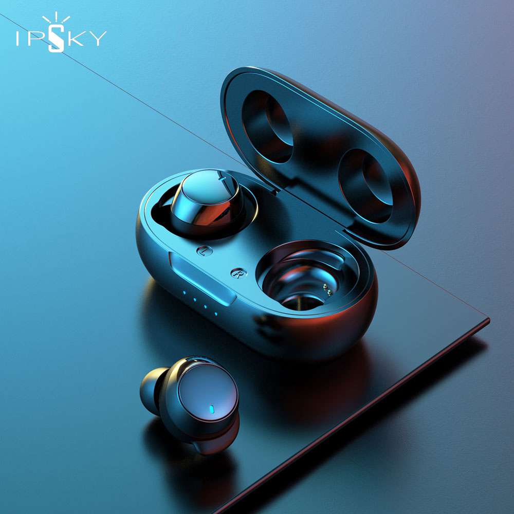 IPSKY Wireless Earbuds Bluetooth 5 0 TWS Headphones For Samsung S10 Stereo Sports Wireless Earphones with Microphone Hands Free