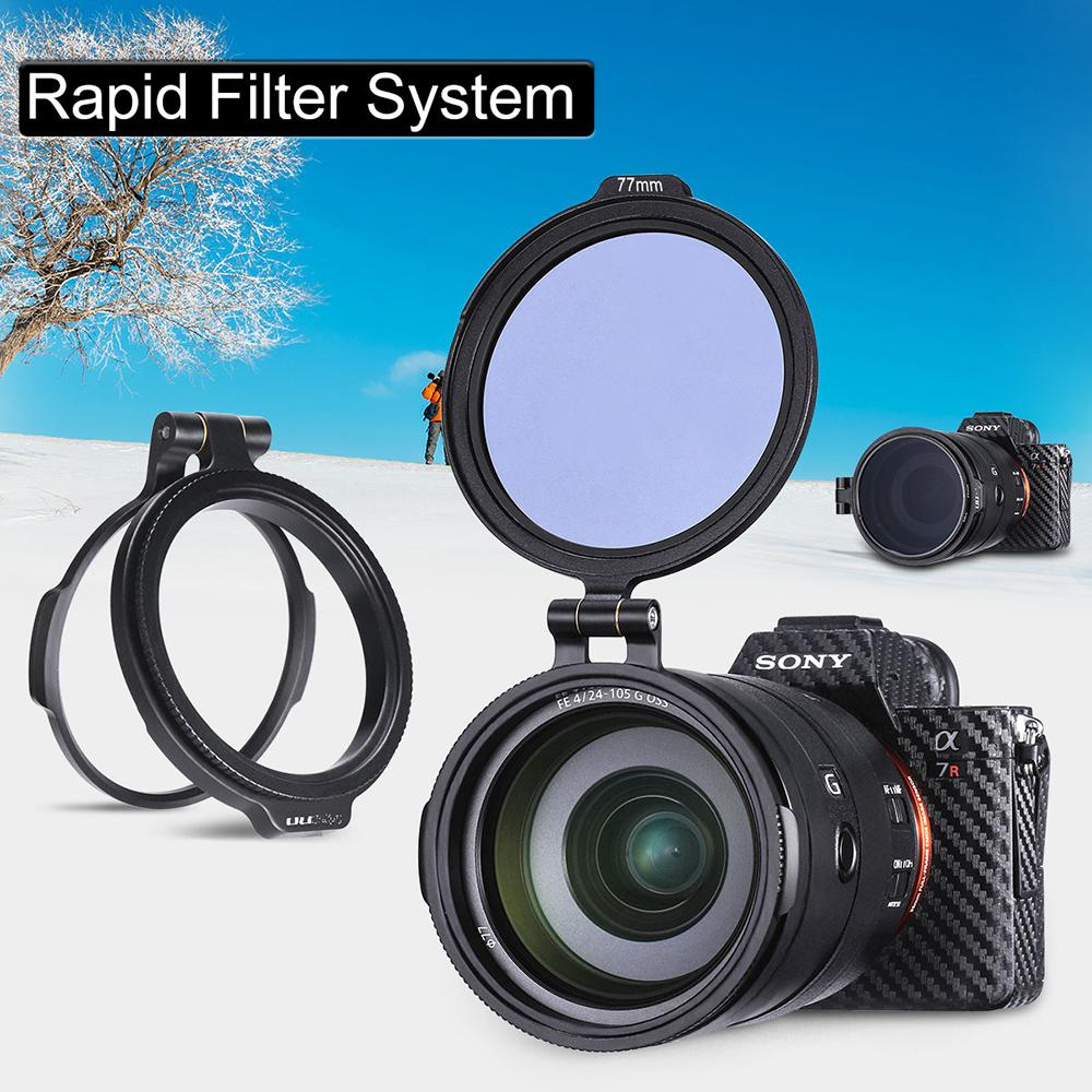 UURig RFS ND Filter Quick Release Ring DSLR Camera Accessory Quick Switch Bracket DSLR Lens Flip Mount Clip
