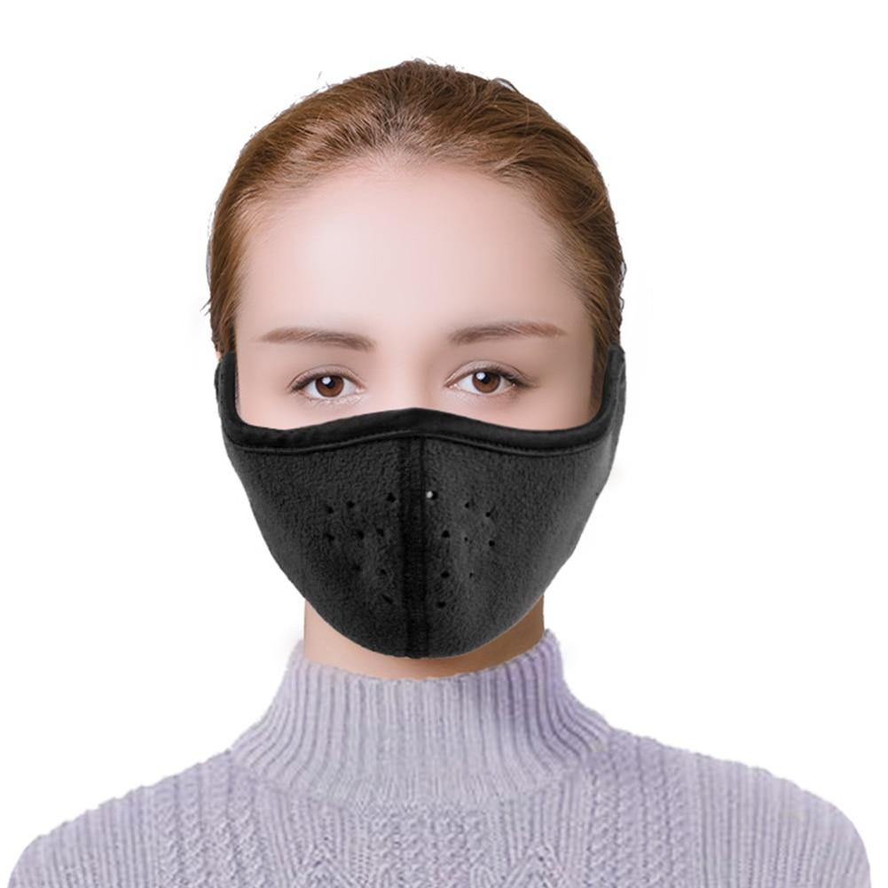 Men Women Thermal Fall Winter Comfortable Warm Mask Binaural Half Face Snowboard Soft Hiking Cycling Earmuffs Ski Sports Outdoor