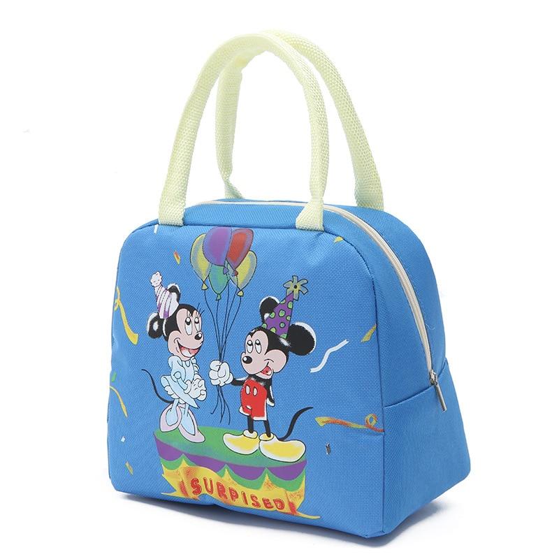 2020 New Disney Mickey Mouse Handbag Casual Bag Minnie Canvas Bag Handcuffs Bag Lunch Box Bag Boys Girls Boy Handbag