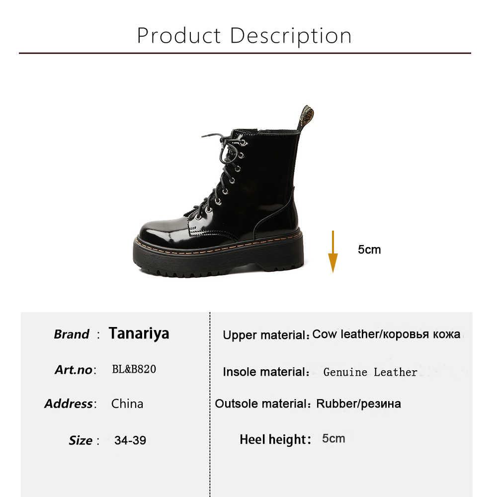 Tanariya ใหม่มาถึงรองเท้าผู้หญิงรองเท้าผู้หญิงฤดูใบไม้ร่วงและฤดูหนาว 2020 แพลตฟอร์มกันน้ำหญิง beef รองเท้า