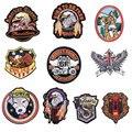 Значки с животными патчи для костюмы гладить на вышивать шить аппликация в виде орла волк собаки кошки змея одежда патч, аксессуары для укра...