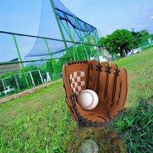 1 шт., мужские и женские бейсбольные перчатки, для улицы, для левой руки, ударные, уменьшающие, регулируемые, удобные, тренировочные, для спорта и софтбола, перчатки, аксессуары
