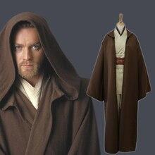 Star Wars Anakin Jedi Knight Cosplay Costume Hood Cape Anime Classic Movie For Men Women Halloween Fancy Brown