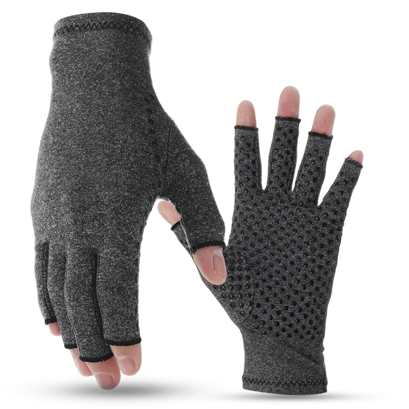 1 Pair Magnetic Anti Arthritis Health Compression Therapy Gloves Rheumatoid Hand Pain Wrist Support Sports Safety Gloves