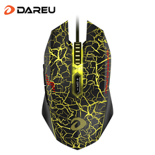 DAREU EM915 Gaming Mouse 30 Million life 7 Button Optical Wired Mice with Backlight & Mouse Driver For Computer PC laptop Gamer