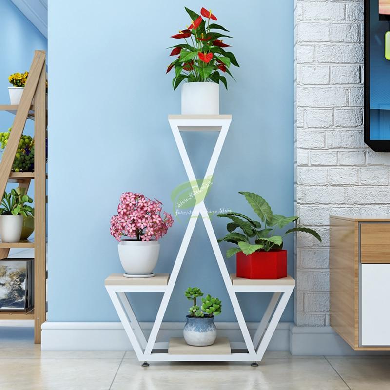 Simple Modern Multi-layer Wrought Iron Flower Stand Floor-standing Living Room European Creative Indoor Plant Racks