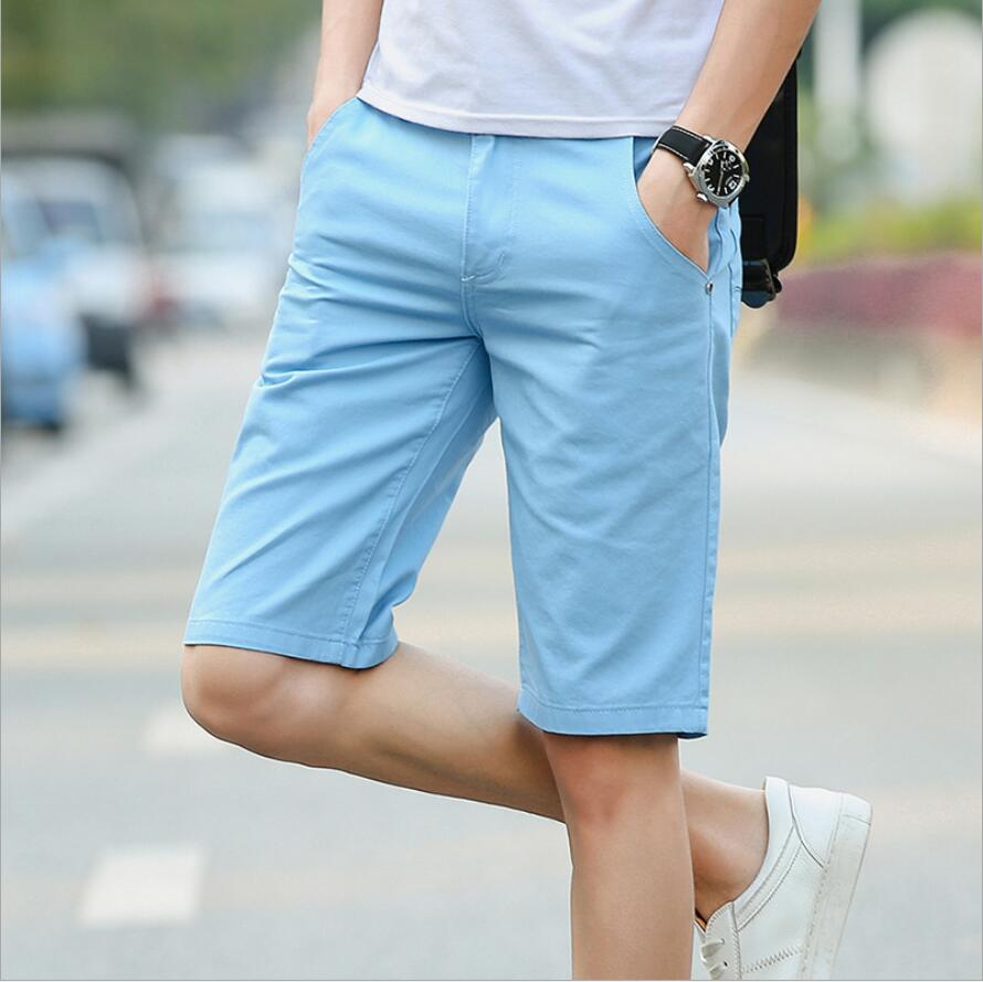 2019 New  High Quality Mens Cotton Shorts Summer Men Shorts Homme Stylish Casual Beach Shorts Men Short Pants
