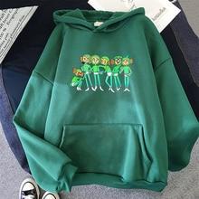 Green Brush Hoodies Women Aesthetic Oversized Baby Brush Hoodie Harajuku Sweatshirts Female Unisex The Boys Long Sleeve Clothes