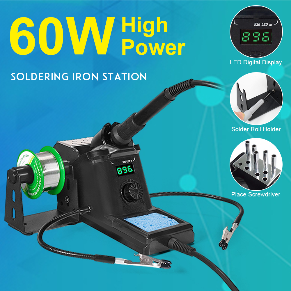 LED Display 60W Soldering Station PID Temperature Control Technology Fahrenheit & Centigrad  896°F/ 480°C For PCB / SMD / SMT