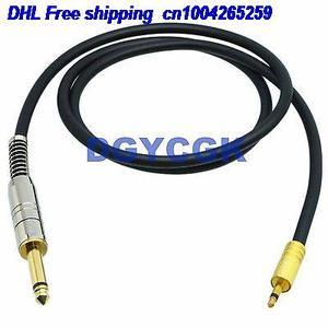 EMS/DHL 10pcs 3.5 milímetros 6.35 milímetros 1/4 adaptador de cabo de áudio AV RCA plug jack mono TS 35FT fone de ouvido MICROFONE cabo 22j