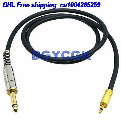 EMS/ DHL 10pcs 3.5mm 6.35mm 1/4 RCA Plug Jack Mono TS 35FT Cable Adapter Audio AV Headphone MIC Cable 22j