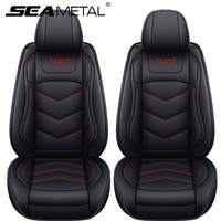 Funda Universal de cuero PU para asiento de coche, Protector de cojín de coche, 5 asientos, alfombrillas Surround