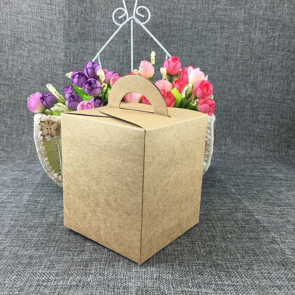 50 шт./лот День рождения крафт бумага конфеты/торт коробка свадебные коробки для подарков детская вечеринка ручной работы подарочная упаков