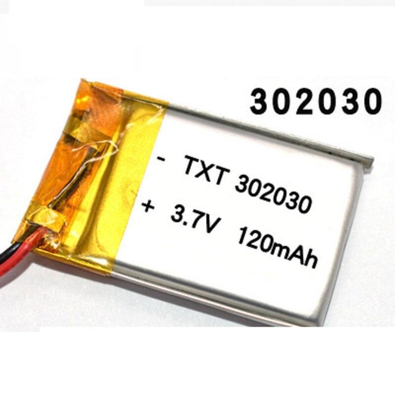 3,7 V литиевая батарея 302030 032030 120mah MP3 MP4 GPS Bluetooth сотовые Аккумуляторы для игрушек