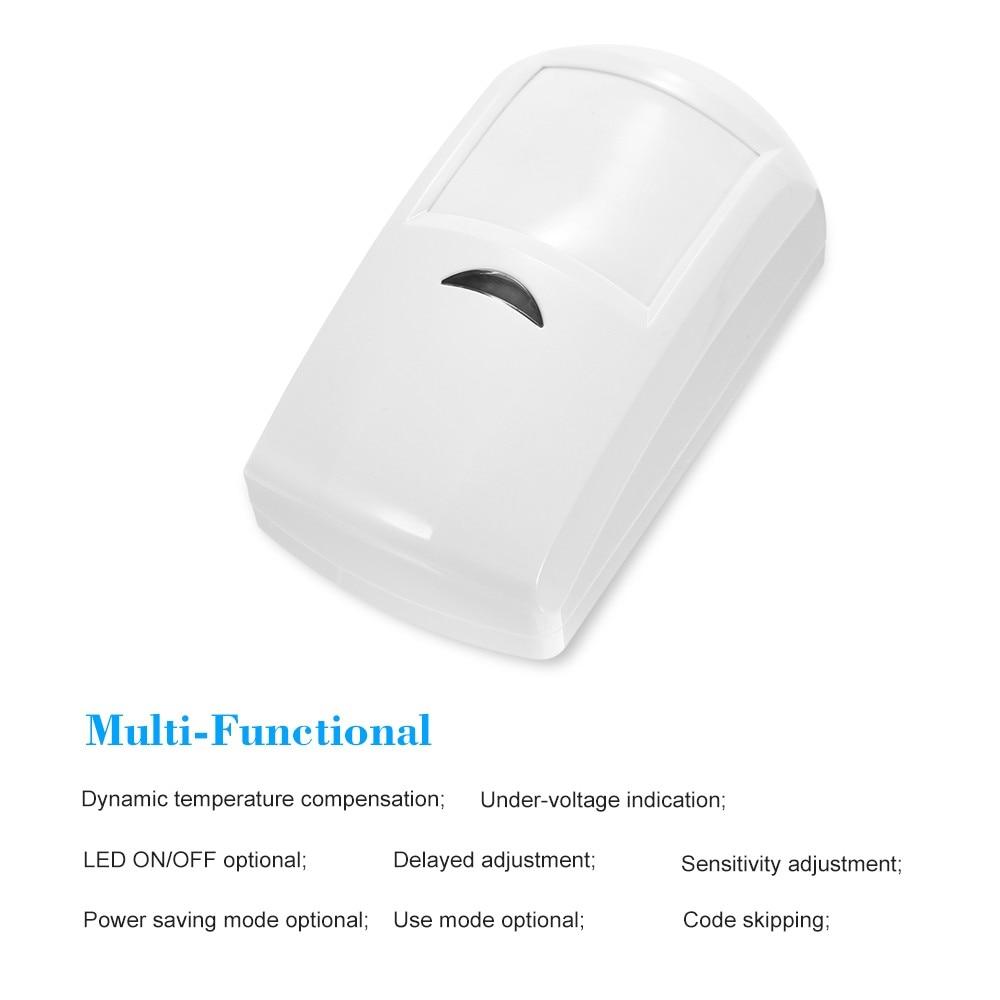 433MHz Wireless PIR Infrared Motion Detector Burglar Home Alarm System Infrared Detector Control Switch