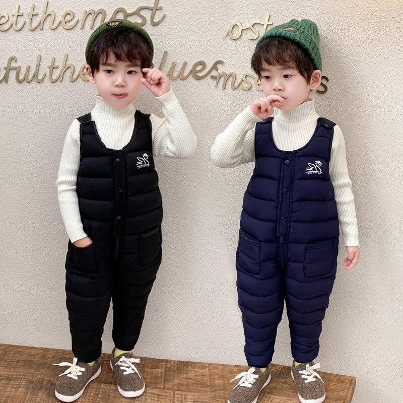 OLEKID 2020 Winter Baby Boys Overalls Thick Warm Down Cotton Baby Girl  Jumpsuits 1-5 Years Children Overalls Kids Toddler Pants - Super Discount  #993EE | Cicig