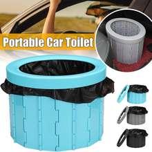 Portátil de viagem dobrável wc mictório móvel assento para acampamento caminhadas longa viagem conveniente carro potty wc veicular mictório
