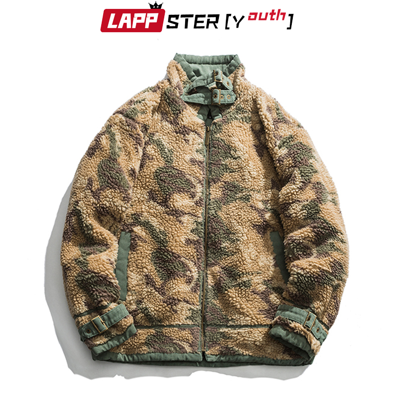 LAPPSTER-Youth Men Wool Camo Parka 2020 Mens Japanese Streetwear Camouflage Winter Jackets Coats Male Korean Thick Windbreaker