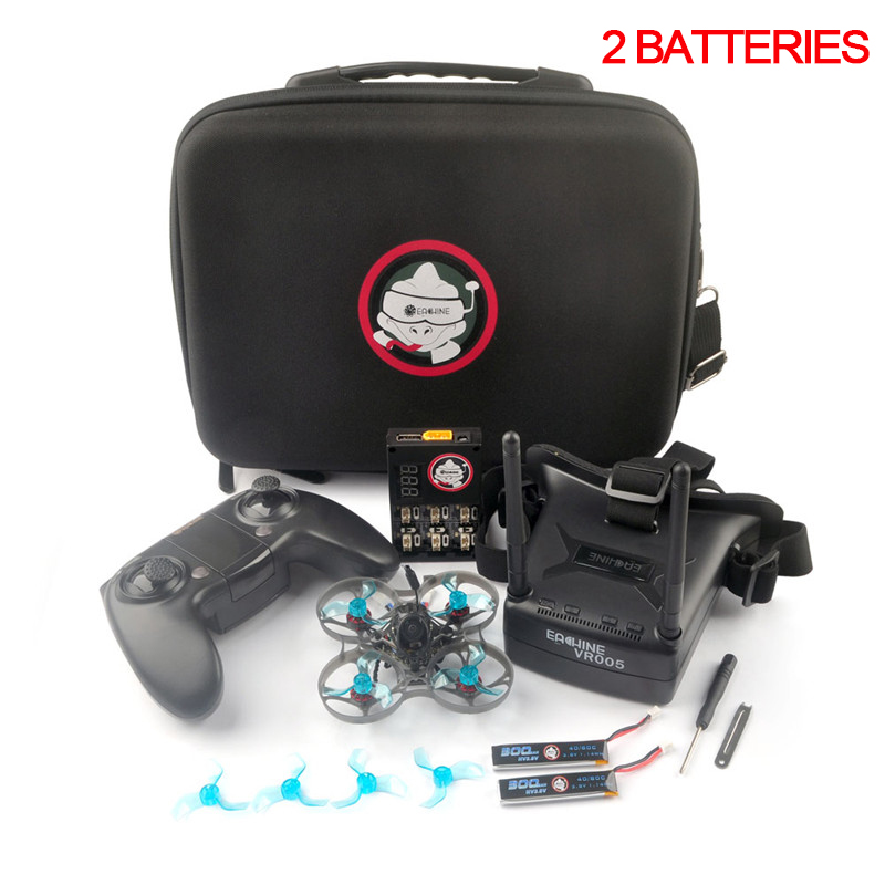 Eachine Novice-I 75mm 1-2S Whoop FPV Racing Drone RC Helicopter RTF & Fly more w/ WT8 2.4G Transmitter 5.8Ghz 48CH VR005 Goggles 5