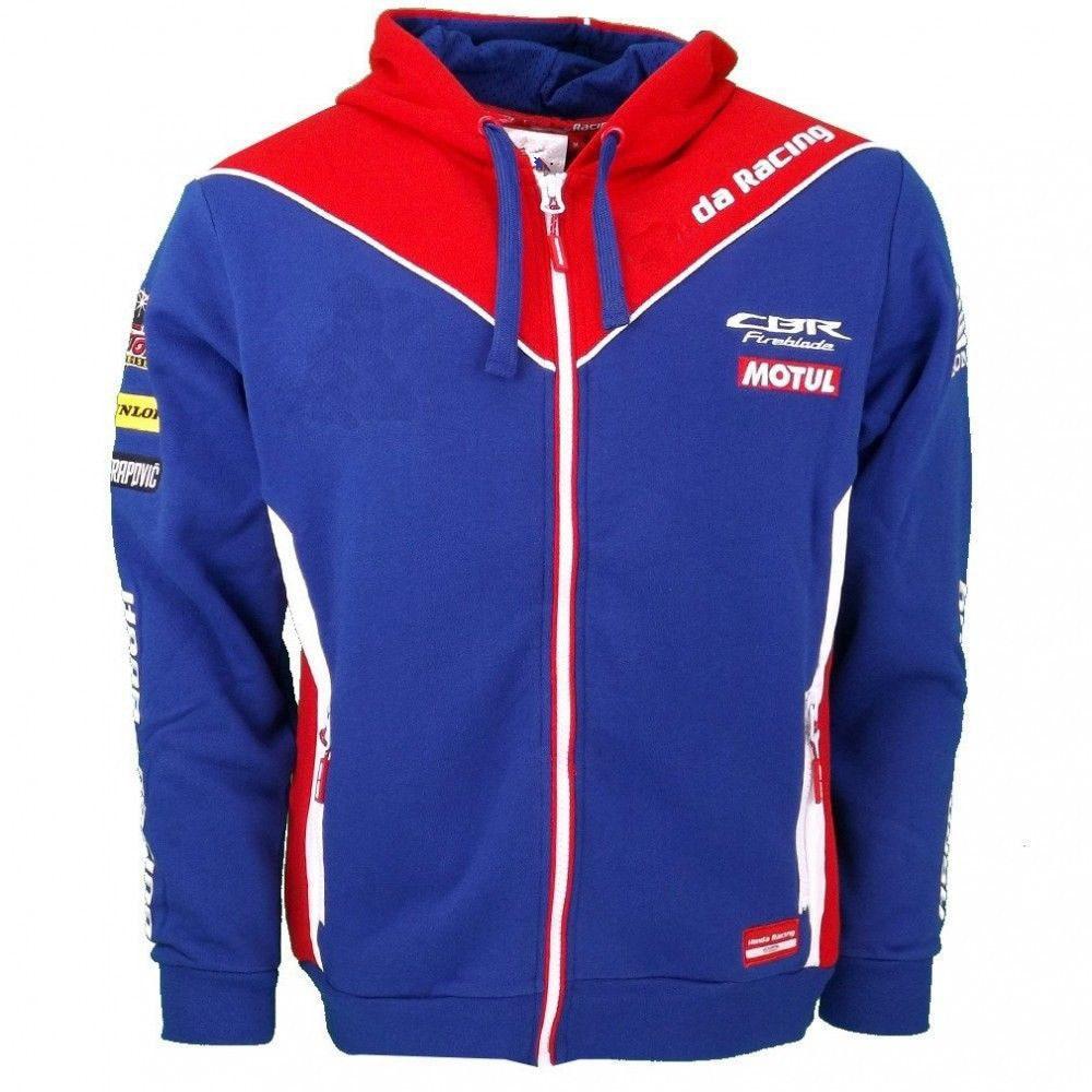 2018 NEW Honda HRC Racing Zip Hoodie Moto GP Racing Suit Casual Sweater Coat